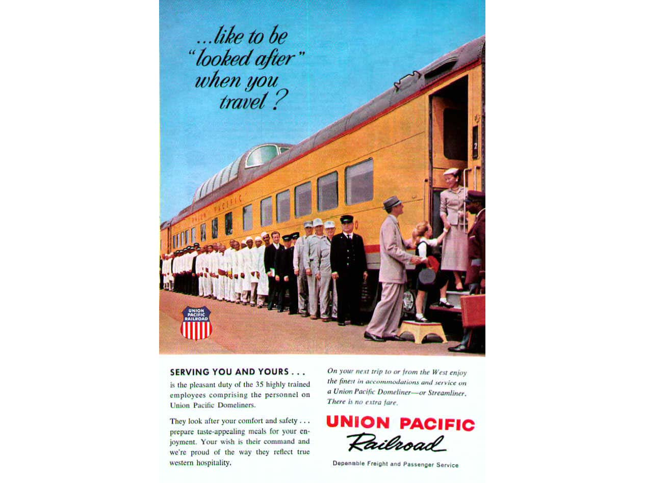 Up coach ad above from 1959 jack deasy