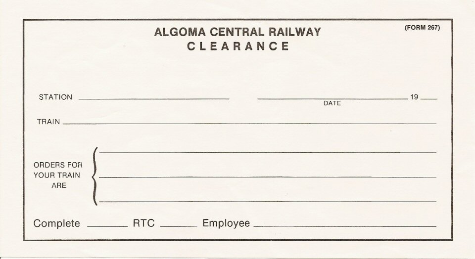 ACR Clearance Form