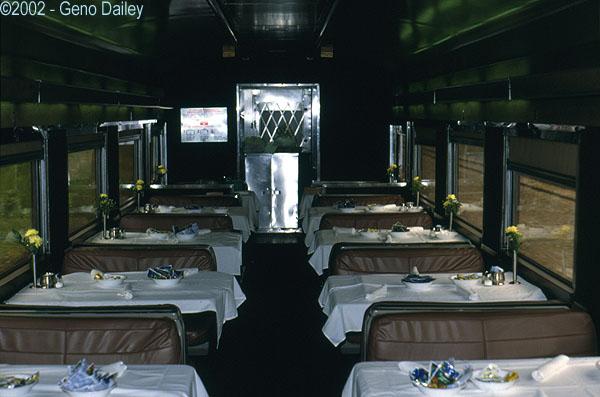 seating area of amtrak heritage dining car 8521. Black Bedroom Furniture Sets. Home Design Ideas
