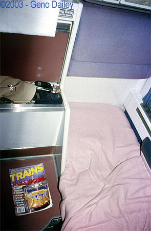 the bed in the lower bunk