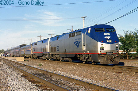 Train 5 the california zephyr cools its heals at galesburg on its
