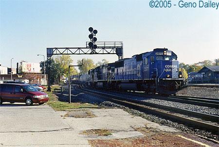 Railfanning In Elkhart In November 2nd 2005