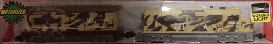 Brown Military Freight Loco and Caboose