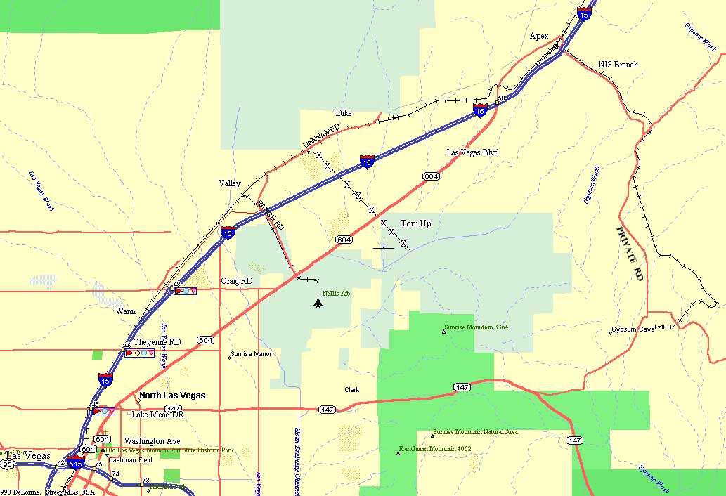 Las Vegas, Nevada (North) Map and Railfan Info