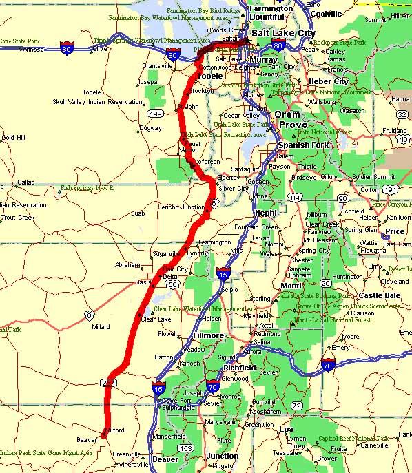Milford Utah Map.Uprr S Lyndyll Sub Map And Railfan Info