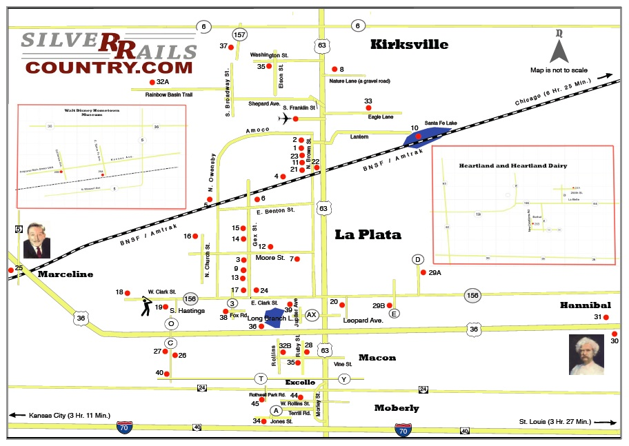 Kirksville Missouri Map.Round Trip Fullerton Ca To Silver Rails Country La Plata Mo On