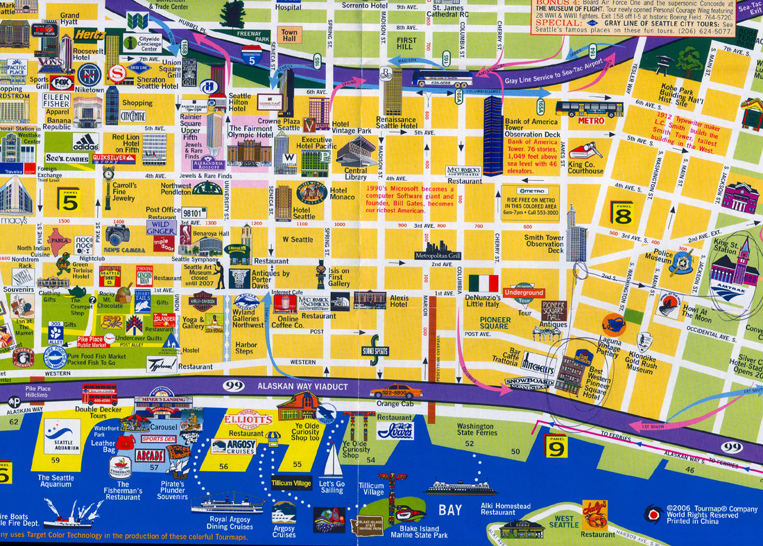 A Day in Seattle – Seattle Tourist Attractions Map