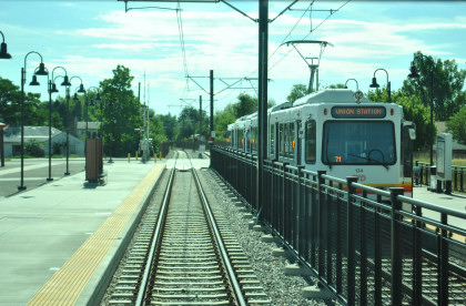 Denver Light Rail Golden To Convention Center On The Way