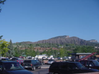 The view to the west as we leave durango for Durango fish hatchery