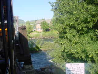 Our train crossing the animas river for the first of many for Durango fish hatchery