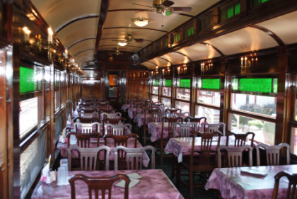 three views of the dining car 105 lee e brenner. Black Bedroom Furniture Sets. Home Design Ideas