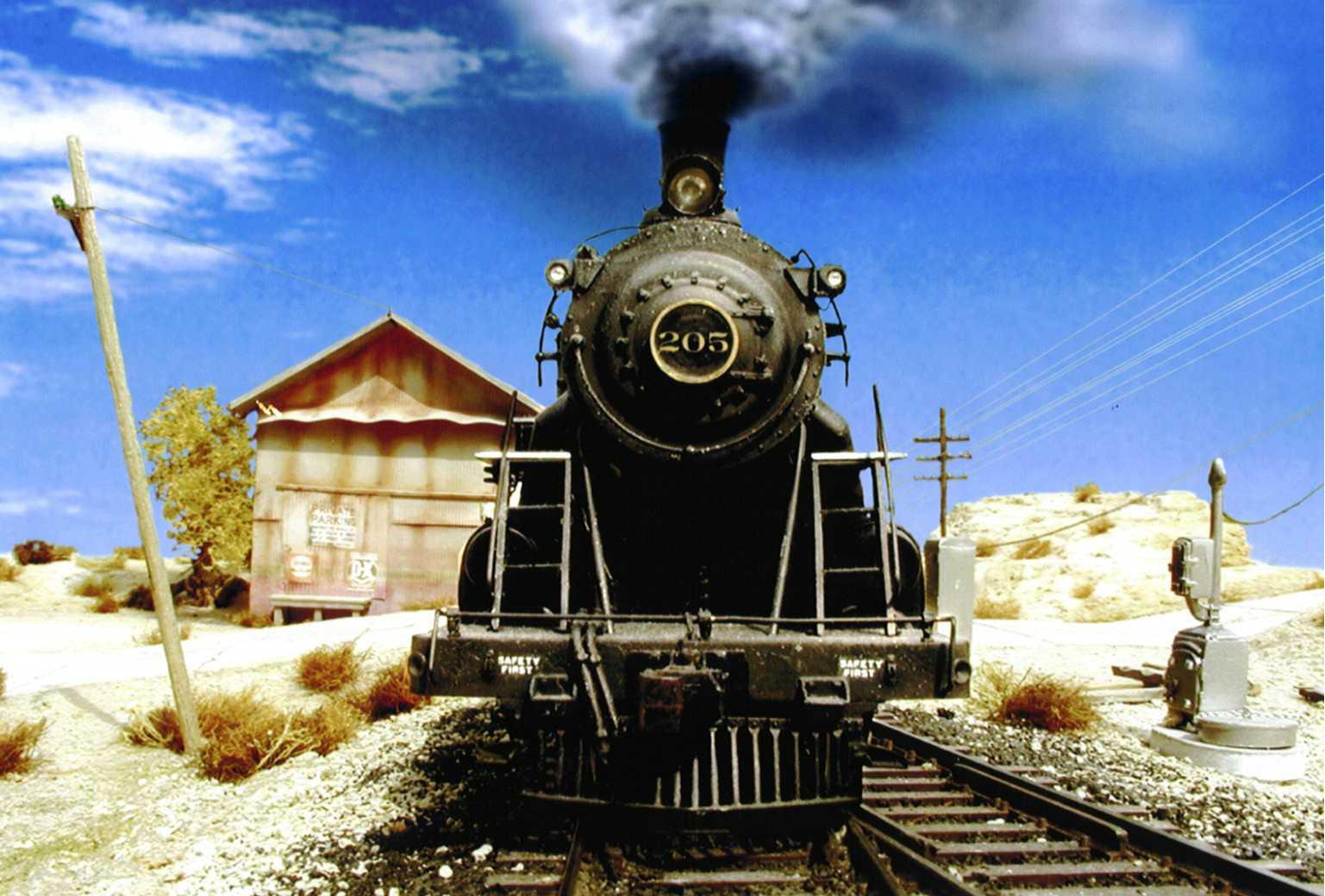 Steam engine train invented