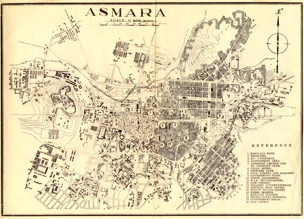 Maps of Asmara | Maps – Map of Subway, Metro Map, Map of Europe ...