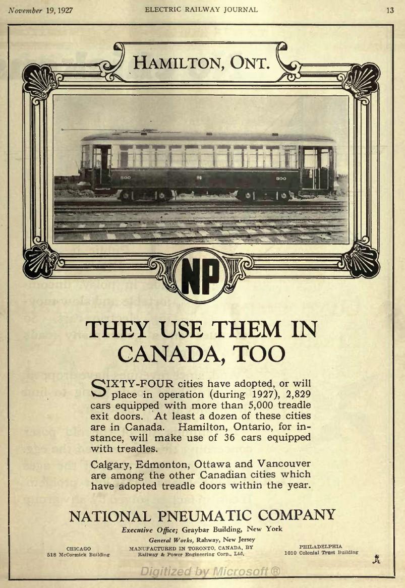 National Steel Car Streetcars Hsr 500 547