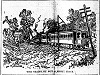Newspaper illustration of the collision of H&D #3 (background) with H&D #4 & #20.