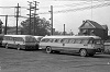 HSR #495</A> at the Sanford yard, with #93 and two other Ford Transits circa 1956.