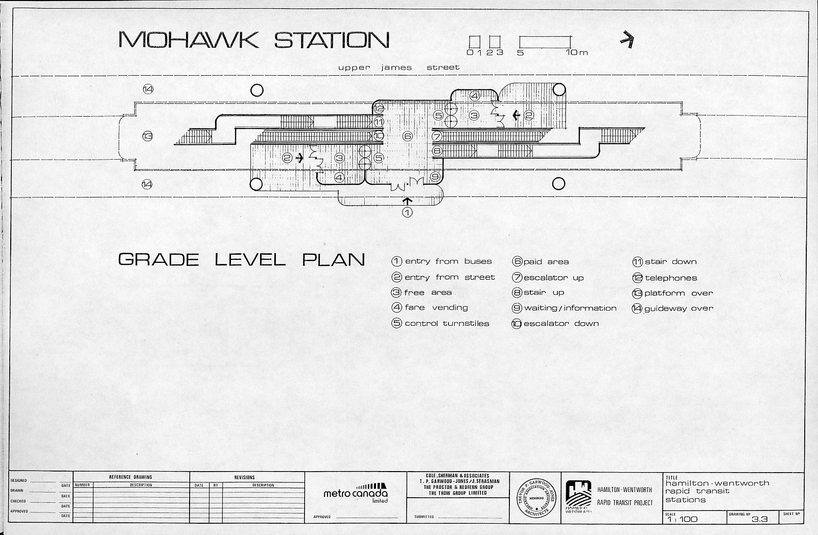 Plan Of Mohawk Station At Ground Floor