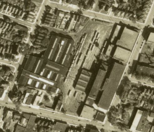 Aerial photo of Sanford Yard, 1934