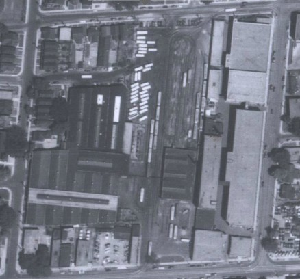 Aerial photo of Sanford Yard, 1950