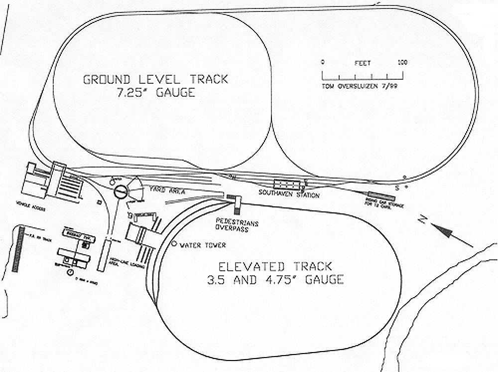 Long Island Live Steamers Track Plan