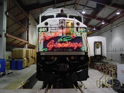 Metrolink Engine 861 Sitting In The Car Barn With The
