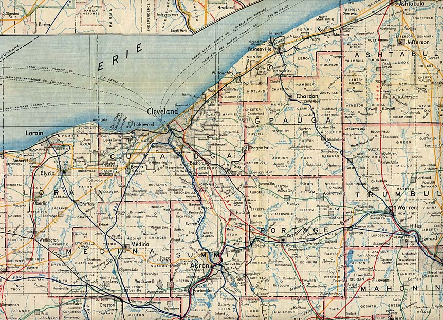 Railroads Of Northern Ohio - Ohio road map