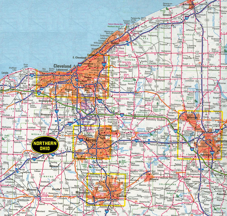 Map Of Northeast Ohio