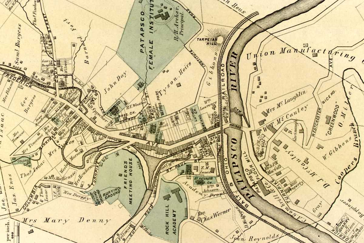 Old Main Line Photo Tour Map Of Ellicott City Md on