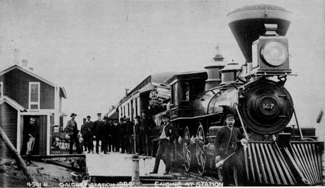 Woodburning 4 4 0 Number147 Hauling Passenger Train At