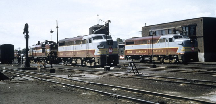 Alco 4003 Fa1 Sits Next To Locomotive Department Office