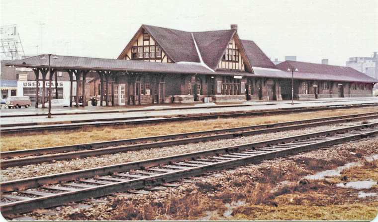 This shows the full length of the expanded express building note the
