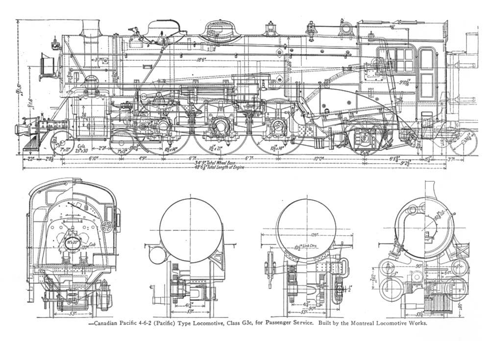 Old Train Drawing Train Drawings Scale