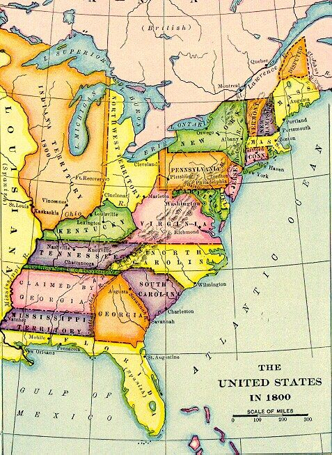 Old Time Trains - 1776 us map