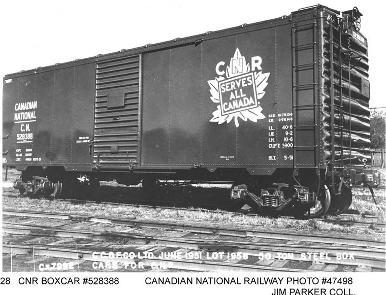 C N 528388 40 Foot 50 Ton 3900 Cu Ft Steel Box Car