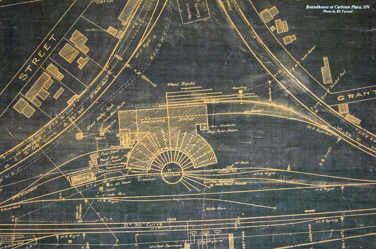 Old time trains blueprint of carleton place roundhouse malvernweather Choice Image