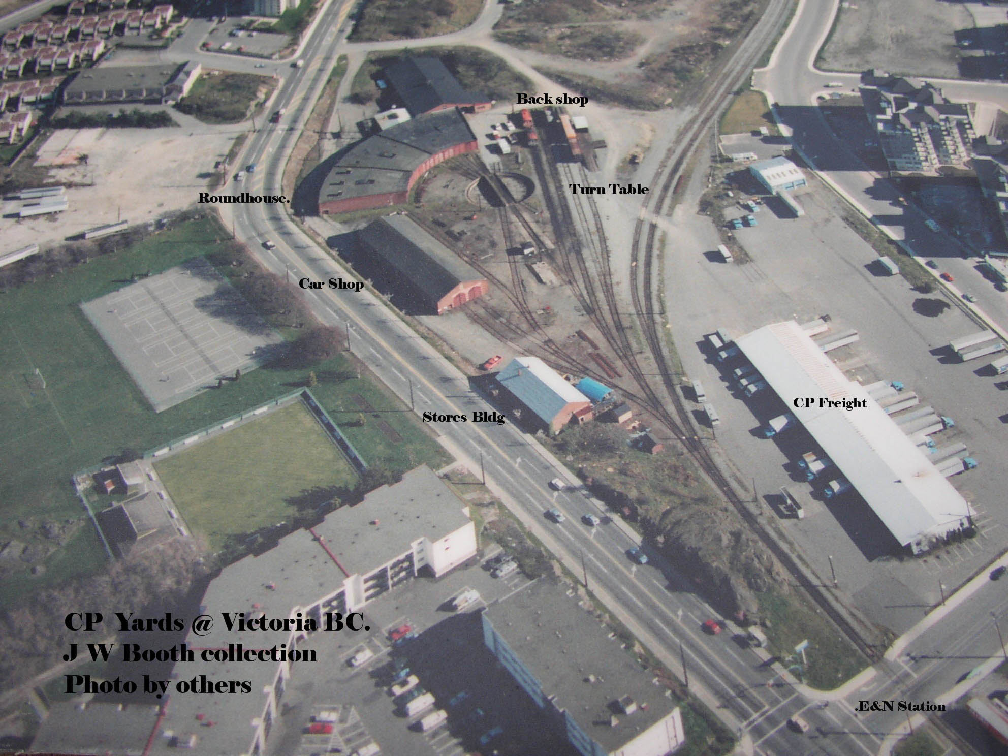 Aerial view of victoria vi shops