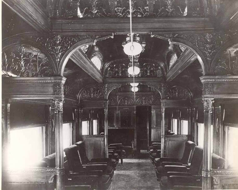 old parlour car interior canadian pacific railway donated by charlie mabee cpr ret 39 d. Black Bedroom Furniture Sets. Home Design Ideas