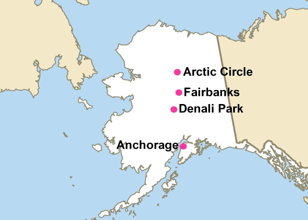 Arctic Circle Alaska Map Fairbanks, Arctic Circle Drive, Denali Park & the Alaska Railroad