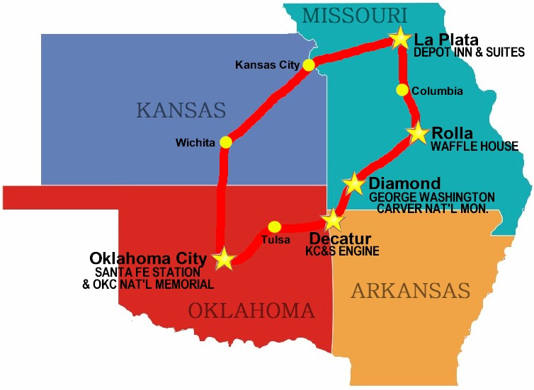 Oklahoma Missouri Map Missouri Map - Okla map road