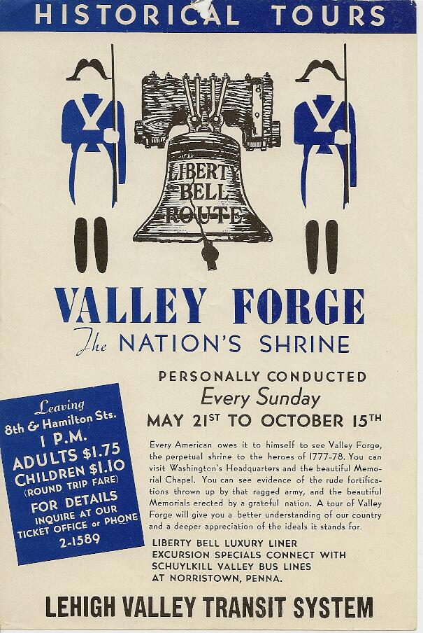 Lehigh Valley Transit Valley Forge Historical Tour Poster