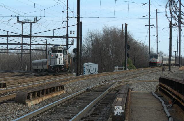 Njt 4800 Leads Train 4620 While Train 4623 Waits On The