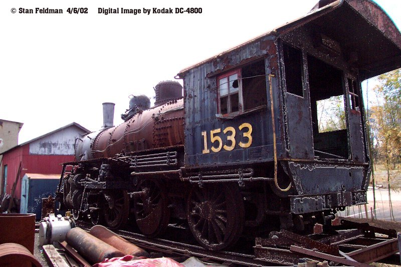 Click here to see the Tender of New Hope & Ivyland Railroad 4-6-0 # 1533.  This Tender has been stored here unserviceable since December 1975.