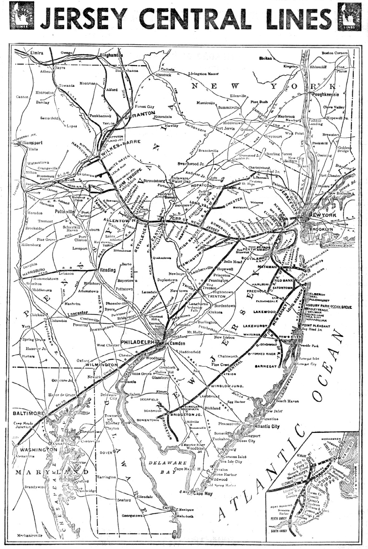 RAILROADNET  View Topic  What Are Some Old CNJ Routes