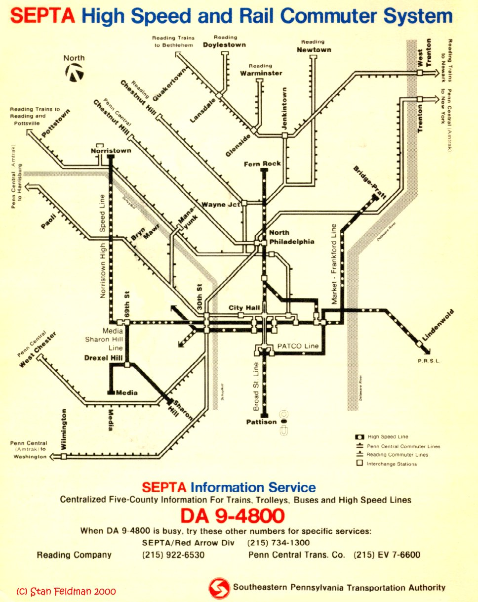Submission Historical Map SEPTA High Speed and Transit Maps