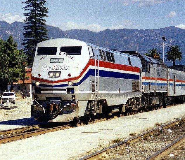 Amtrak Coast Starlight 14: (122K) Nice Front Shot Of #113