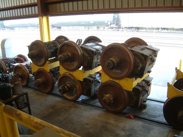 Stacked Traction Motors Acta Tracks In Backround With
