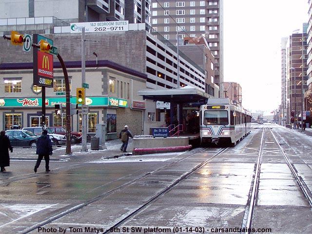 Calgary Transit Ctrain LRT 8 Street SW station