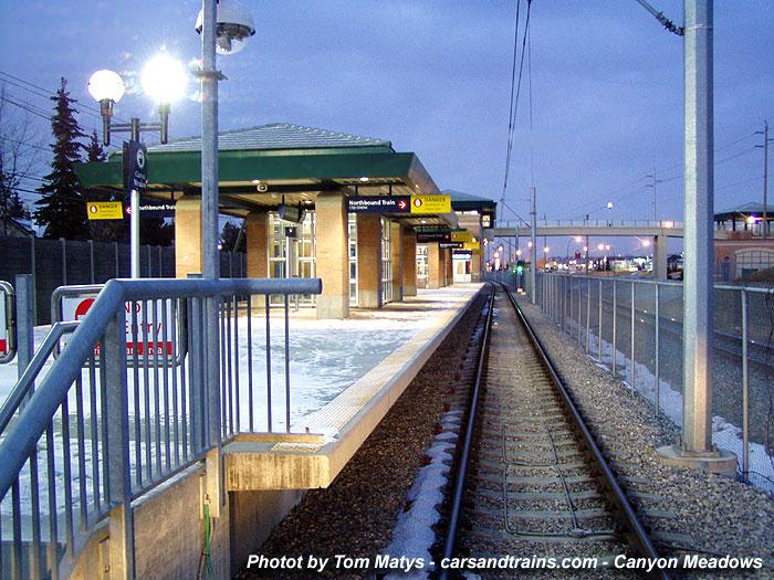 Calgary Transit Ctrain LRT Canyon Meadows station