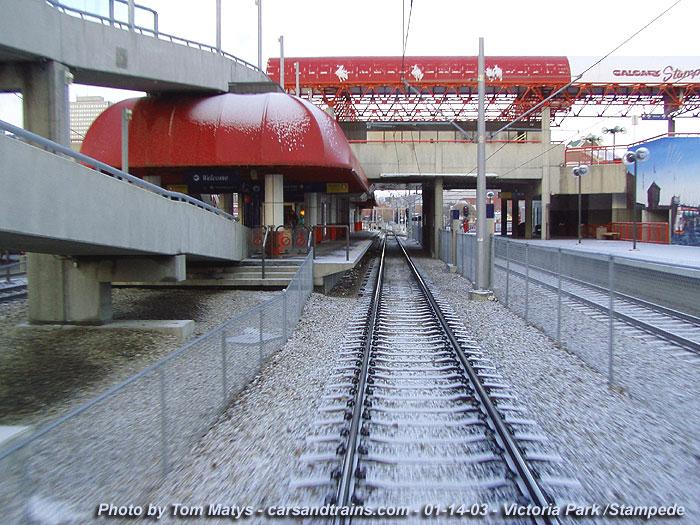 Calgary Transit Ctrain LRT Victoria Park Stampede station