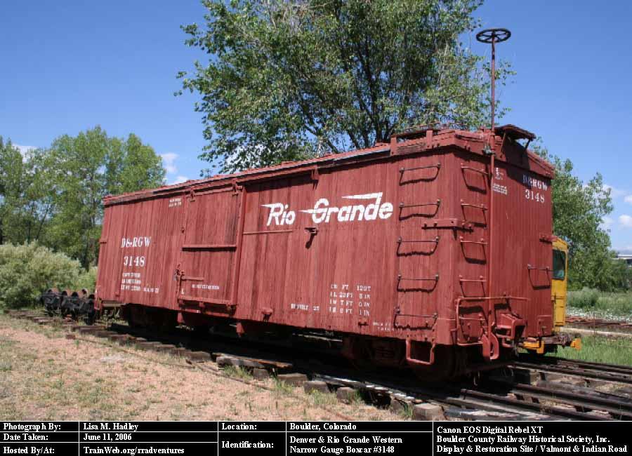 boulder county railway d rgw narrow gauge boxcar 3148. Black Bedroom Furniture Sets. Home Design Ideas